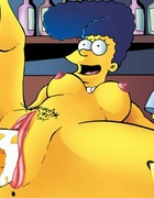 Slutty Simpsons involved in hardcore cock sucking and pussy banging to