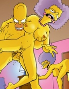 Homer Simpson banging different chicks hard and getting naughty with wife