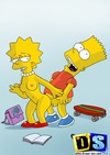 Slutty Lisa Simpson sucks Krusty and gets banged by Bart and others