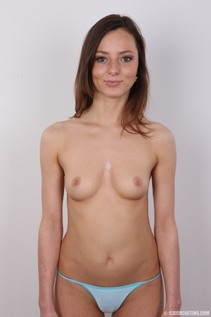 Slim and sexy young brunette chick with  - XXX Dessert - Picture 11