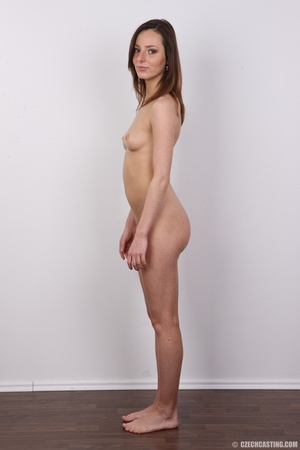 Slim and sexy young brunette chick with  - XXX Dessert - Picture 15
