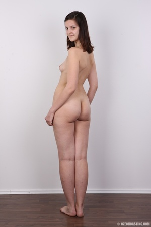 Young brunette shows off sexy small tits - XXX Dessert - Picture 17