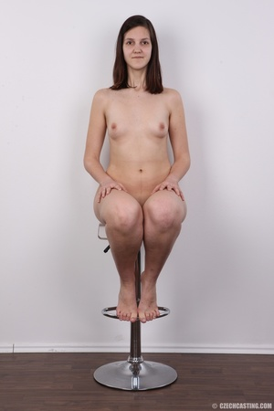 Young brunette shows off sexy small tits - XXX Dessert - Picture 18