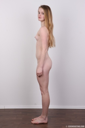 Shy young blonde reveals enticing small  - XXX Dessert - Picture 15