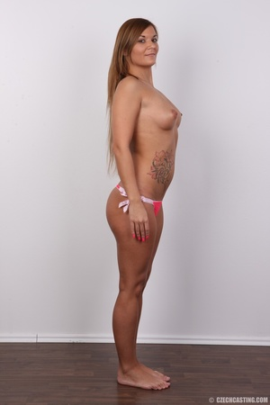 Sexy shaped brunette with cute tattoos d - XXX Dessert - Picture 10
