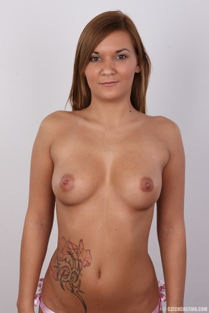 Sexy shaped brunette with cute tattoos d - XXX Dessert - Picture 11