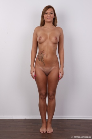 Sexy shaped brunette with cute tattoos d - XXX Dessert - Picture 14