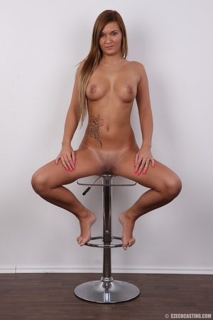 Sexy shaped brunette with cute tattoos d - XXX Dessert - Picture 19