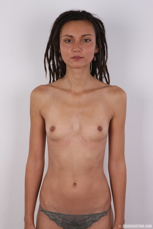 Dreadlocked slim beauty with small tits, - Picture 11