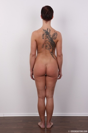 Sexy shaped lady with hot tattoos, cute  - XXX Dessert - Picture 16