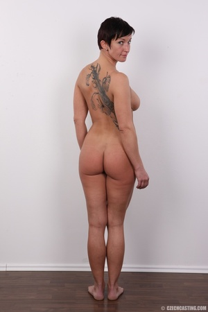 Sexy shaped lady with hot tattoos, cute  - XXX Dessert - Picture 17