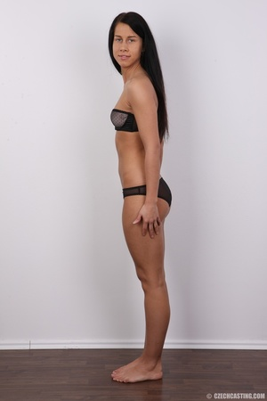 Black hair slim damsel with butt tattoo  - XXX Dessert - Picture 8
