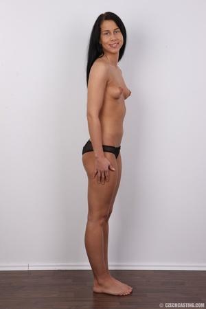 Black hair slim damsel with butt tattoo  - XXX Dessert - Picture 10