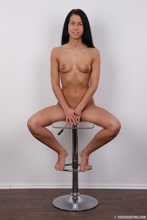Black hair slim damsel with butt tattoo  - XXX Dessert - Picture 20