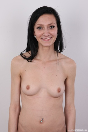 Smiling slim chick with soft sexy small  - XXX Dessert - Picture 11