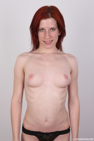 Slender red head shows off fleshy pussy, - XXX Dessert - Picture 11