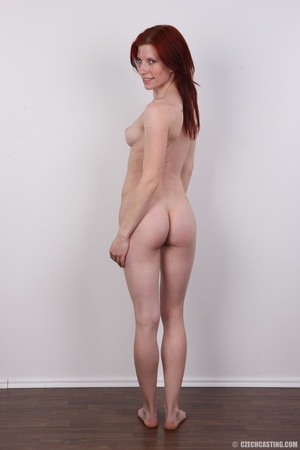 Slender red head shows off fleshy pussy, - XXX Dessert - Picture 17