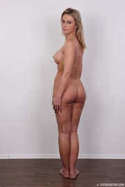 slim blonde lady with