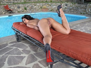 Hot ass creamy chick goes nude by pool t - XXX Dessert - Picture 12