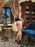 horny blonde spreads her