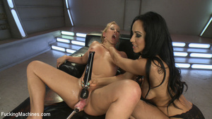 Two cock hungry chicks moan as they use  - XXX Dessert - Picture 10