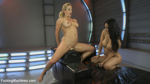 Two cock hungry chicks moan as they use  - XXX Dessert - Picture 14