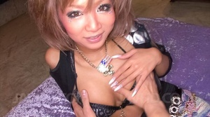 Japanese slut with vulgar make-up suckin - XXX Dessert - Picture 1