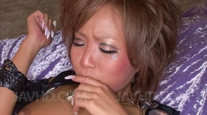 Japanese slut with vulgar make-up suckin - XXX Dessert - Picture 6