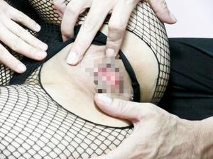 Slutty Asian babe in a fishnet catsuit g - XXX Dessert - Picture 1