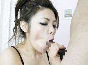 Slutty Asian babe in a fishnet catsuit g - XXX Dessert - Picture 7