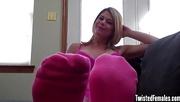blonde milf pink socks