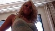slutty blonde white lingerie