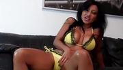stunning latina likes tease