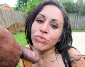 Naughty brunette in a black tank top get - XXX Dessert - Picture 3