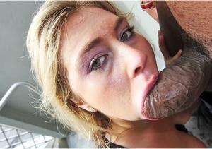 Busty blonde milf licks and sucks a big  - XXX Dessert - Picture 2