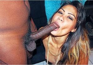 Naughty brunette sluts suck a big dick i - XXX Dessert - Picture 4