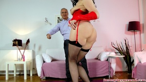 Very hot brunette mom in red sex suit an - XXX Dessert - Picture 8
