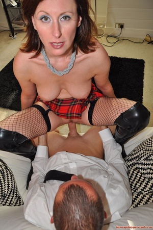 Dirty brunette MILF in fishnet stockings - XXX Dessert - Picture 10
