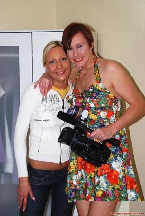 Lewd brunette mom shooting on camera her - XXX Dessert - Picture 1