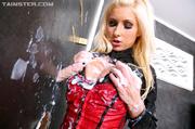 smoking blonde pin red
