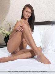 attractive young brunette reveals