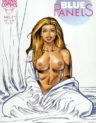 Busty toon hotties from Blue Panels comics fondling themselves by Mel