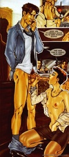 Horny black dude from Banana Games comics fucking hard hot busty tranny