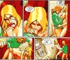 Blonde slut gets assbanged hard in Buddies comics by Gambedotti & Guevara