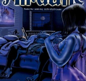 Cool adult comics about hot brunette chick Alruane by Toni Greis