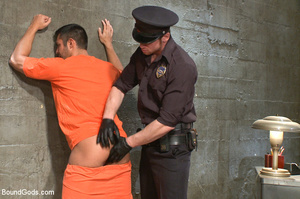 Police dominates prisoner whipping him a - XXX Dessert - Picture 1