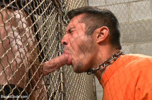 Police dominates prisoner whipping him a - XXX Dessert - Picture 3