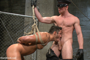 Police dominates prisoner whipping him a - XXX Dessert - Picture 9