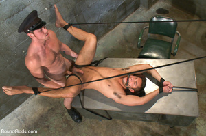Police dominates prisoner whipping him a - XXX Dessert - Picture 13