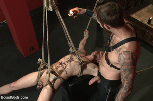 Slave man gets tied and dominated plus w - XXX Dessert - Picture 9